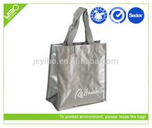 silver non woven laminated women bags