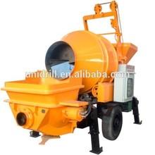 Electric Concrete Mixer Pump Combination Trailer Portable Diesel Stone Concrete Sand Mortar Mixer Mobile Shotcrete Equipment