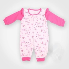Wholesale organic cotton rompers baby ,lovely flower printing baby bodysuit
