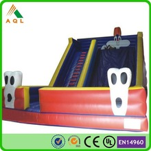 Popular large inflatable pirate ship water slide for sale
