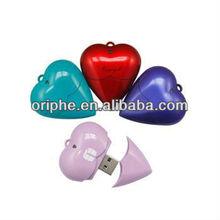 Valentine's Day gift usb flash drive,heart-shaped flash drive usb