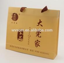 Offset Printing Surface Handling and Patch Handle Sealing & Handle brown kraft paper bag