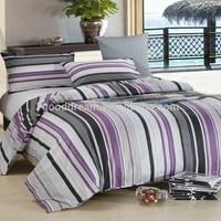 5 star hotel bed linen duvet cover set blue stripe