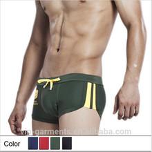 Custom men swimwear quick dry elastic swim trunks