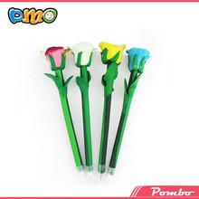 Latest Hot Selling!! beautiful polymer clay pen flower cheap pen E-5155