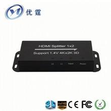 2 Port HDMI Distribution Amplifier Splitter Multiplier 4Kx2K