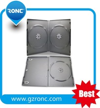 Wholesale cheap plastic black DVD case 14mm rectangle single/double