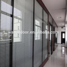 Aluminum sliding glass doors internal blinds (WJ-ASD-679)