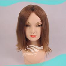 China Manufacturer Blonde European Human Hair Stock Jewish Wig With Kosher Certification