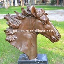 Cast Decorative Bronze Horse Head