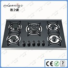 1.5V Battery Super Flame Gas Stoves with Tempered Glass Panel