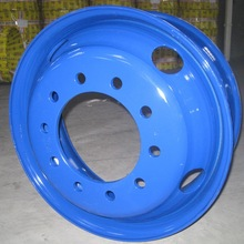 Tubeless 22.5x8.25 Blue Truck Steel Rims with 10 Holes