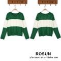 venta al por mayor nueva mujeres cuello redondo suéter a rayas modelo para suéter de las señoras
