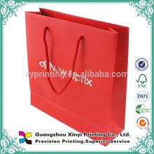 Fashion square bottom china design advertising paper bag
