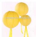 fabricante de la decoración artesanal de linternas de papel de nido de abeja de papel pelota pom poms globo para la boda
