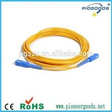 SC 3m length 0.2dB insertion loss 50dB return loss fiber optic patch cord