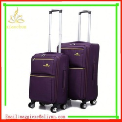 H101 Hot sale trolley luggage, aluminum frame carry-on nylon luggage