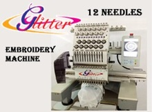 12 Needles per head Automatic single heads sewing machine / embroidery
