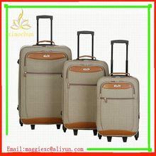 H282 Hot sale trolley luggage, best design nylon luggage sets