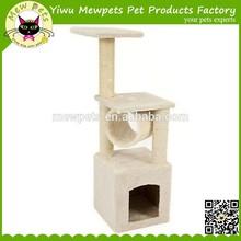 Cat Play House Pet Bed Kitten Toy Beige New cat tree