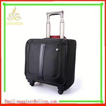 H844 Hot sale trolley luggage, pu travel nylon luggage