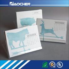 customized new design acrylic desk calendar