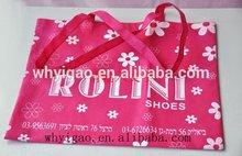 Recyclable folding printed non woven shopping bag