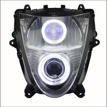 LED Angel Eye HID Projector Custom Headlight Assembly for Hayabusa GSX1300R 2008-2014
