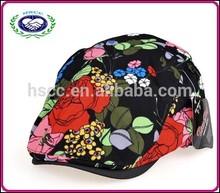 Tea flower national wind retro print free baseball cap pattern