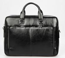 New fashion black pu leather handbag import wholesale mens pu handbag