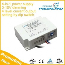 CE UL Approved 50W 0-10V Dimmable Led Driver Constant Current 1050mA 1400mA 1750mA 2100mA 4-in-1
