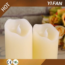 Warm White Pillar Wax LED Candle Light With Remote Control