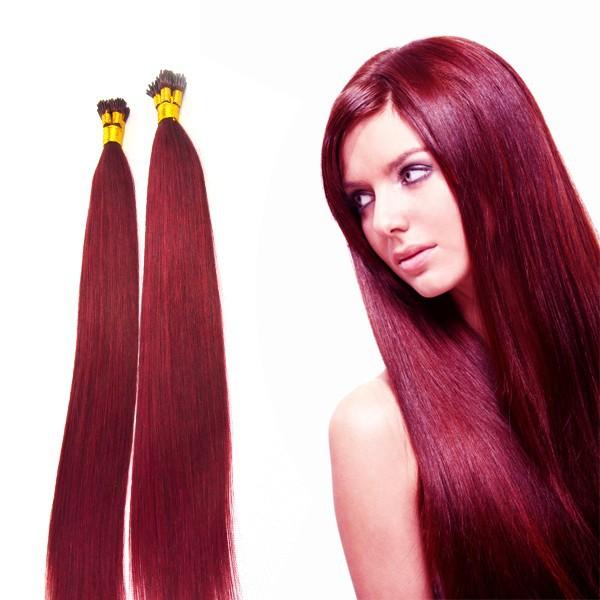 bordo Brezilyalı saç kırmızı şarap saç rengi-Ek saç-ürün ...