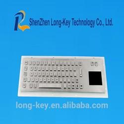 Smart industrial kiosk touchscreen metal keyboard