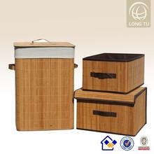 custom foldable bamboo laundry bag with zipper