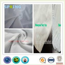 washable waterproof terry tpu compound fabric tpu backing