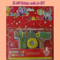 RS-6009 Glitter Shining birthdays candles for Boy