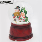 Resin & glass snow globe christmas ornament crafts white snowmen designs kid's gifts christmas water globe