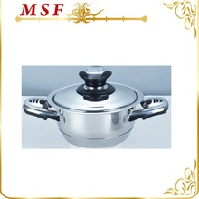 MSF-3688-16cm stainless steel casserole hot pot stainless steel thermos casserole tahermometer knob easy cooking