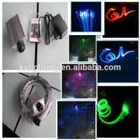 Compact size residetial random ceiling colorful light 5W RGB LED blink fiber optic light illuminator for fibers used