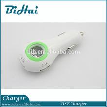 3 Port USB car Charger for 5V 3.1A High Current Output