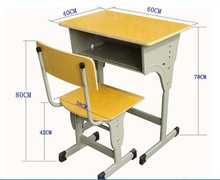 Professional metal school desk and chair with CE certificate
