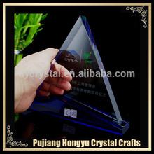 transparent triangle crystal souvenir award