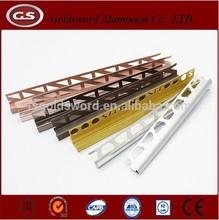 all shape aluminum tile trim/beautiful color aluminum corner tile trim