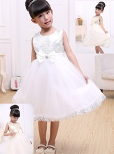 The new 2015 show girls birthday party dress casual dress cute baby girl tutu elegant princess style