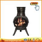Cast Iron Chiminea Patio Heater BBQ Fire Pit Chimenea Heater Wood burning Stove
