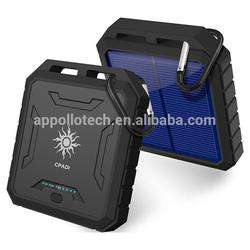 Big 12000mAh battery IP65 Waterproof solar panel portable for Laptop Power Bank