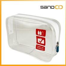 2015 new design transparent toilet bag, airline transparent pvc bag cosmeic cases