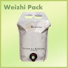 wine bag with spout/wine pouch with spout/wine bag
