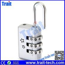 Alibaba wholesales Securing luggage padlocks/ Safety lock/Mini 3 Digit Resettable Combination Lock Password Lock Padlock